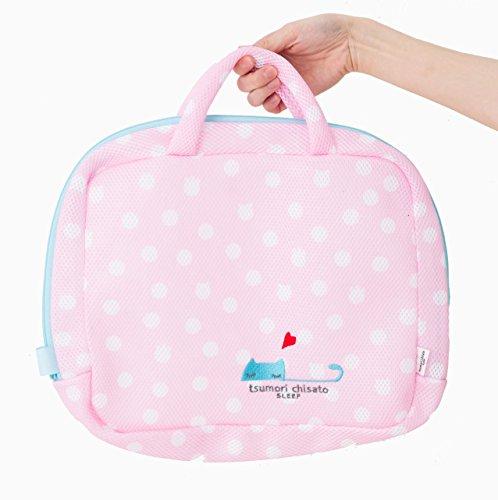 ツモリチサト 洗濯ネット ランドリーケース ネコドット UEX11509 (ピンク)