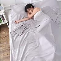 Risareyi ホテル/アウトドア/ピクニック/旅行/バックパッキング用バッグライナー、汚れプルーフ軽量睡眠サック、パーフェクトスリーピングコットン (Color : Gray, Size : 120x220cm)