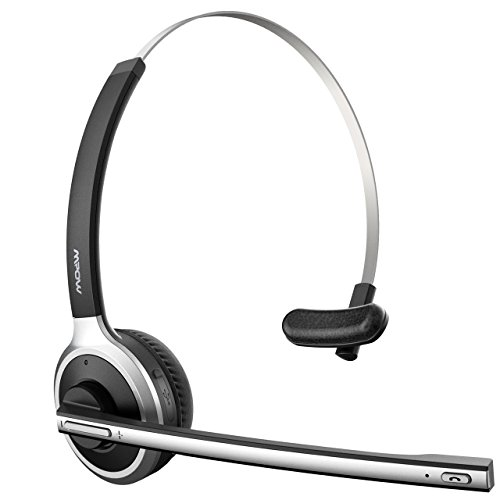 Mpow [Upgrade-Version] Bluetooth Headset LKW-Fahrer Wireless Headset mit Mikrofon 13 Stunden Laufzeit Bluetooth Telefon Chat Headset für Handy, Laptop,VoIP, Skype, Call Center, Büro Schwarz-078