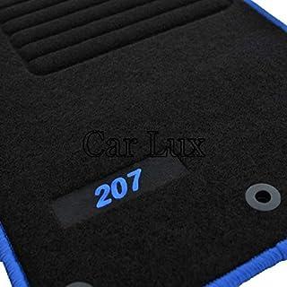 Car Lux AR02818 Tapis de voiture en velours avec bordure rouge pour le mod/èle 207