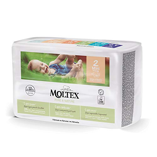 Pañales Moltex Pure & Nature T2 (3-6 kg) 36 uds