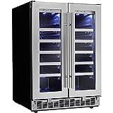 Danby DWC047D1BSSPR Napa 24' French Door Dual-Zone Wine Cooler