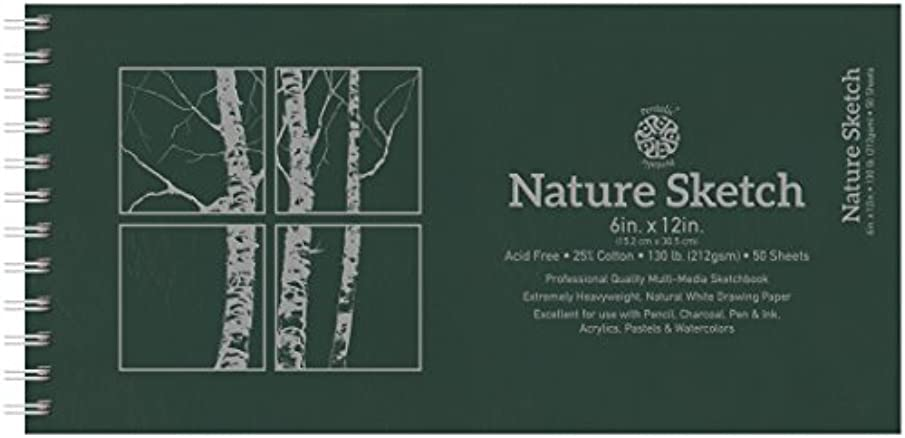 Pentalic Nature Sketch Pad, 12-Inch by 6-Inch