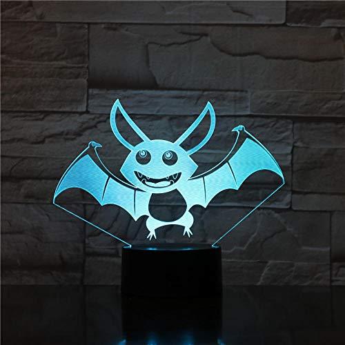 Lámpara 3D ilusión luz de noche de inteligente 3D illusion light mejor regalo de para niños y niñas Con interfaz USB, cambio de color colorido
