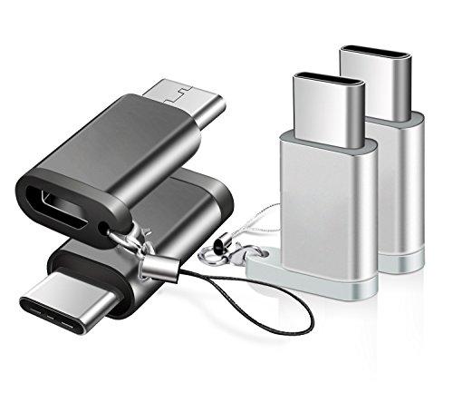 【4個セット】BRG Usb Type C 変換 ,Micro USB → USB-C変換アダプタ アルミニウム合金製 type c 新しいM...