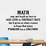 Mathe Wandtattoo Zitat Mathematik Zeichen Klassenzimmer Vinyl Aufkleber Eon Science Geschenk Mathe Wandkunst Motivationsplakat 77X42Cm