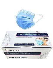 Omnitex Type IIR wegwerp medische mondkapjes | EN14683:2019 | 98% filtratie, vloeistofbestendig chirurgisch mondmaskers 2R - 3 laags masker - 50 stuks