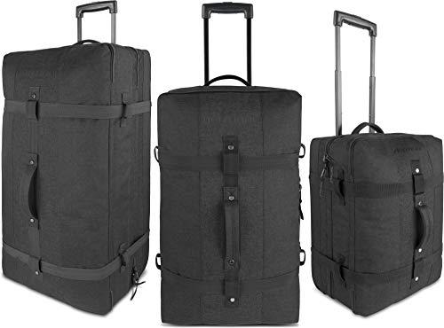 normani Reisetasche - Trolley in 3 Größen : 45, 90 und 125 Liter Volumen - Handgepäck Größe 45 Liter Farbe Schwarz Größe 90 Liter