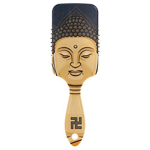MONTOJ Massagekamm Lord Buddha Kissen Haarbürste antistatische Bürsten Massage Gehirn Akupoints zum Entspannen