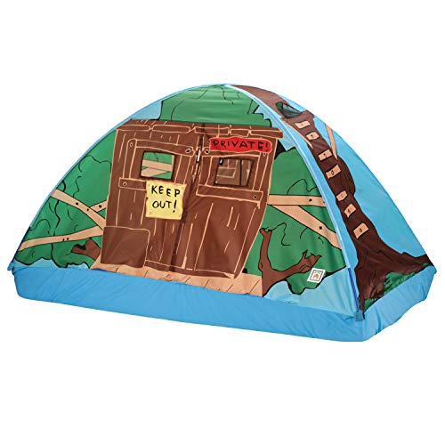 Pacific Play Tents 19791 Kids Tree House Bed Tent Playhouse - Fits Full Size Mattress