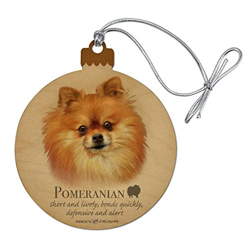 GRAPHICS & MORE Pomeranian Dog Breed Wood Christmas Tree Holiday Ornament