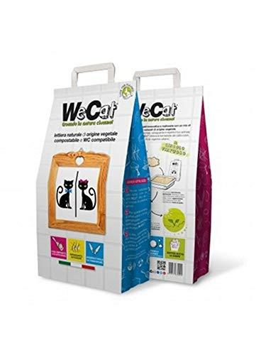 Prolena Wecat Wecat Lettiera per Gatti Naturale di Origine Vegetale E Compostabile - 1 Sacco - 3500