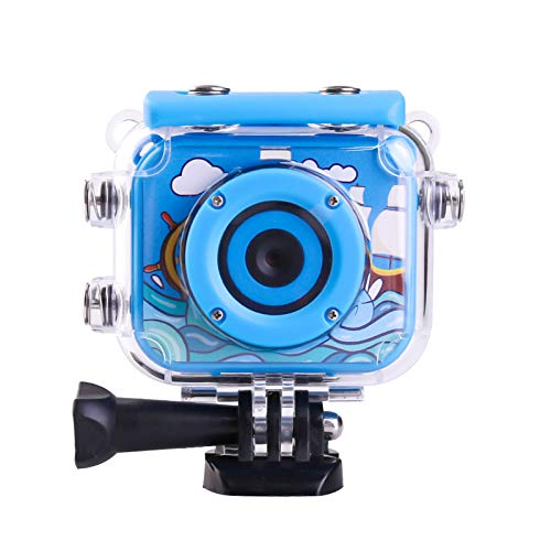 Gbziyjk Portable Kids Digital Camera Underwater Waterproof Camera for Boys Girls Age 3-12 HD Video Cameras, Best Christmas Birthday Gifts,Blue