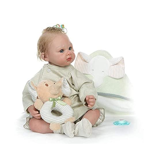 DERUKK-TY Muñecas Reborn Hechas a Mano, bebé Reborn de 52 cm, Cerca de la Piel Real, siéntete Realista, Realista, Silicona recién Nacida, muñecas de Cuerpo Suave y ponderado, Juguetes de compañía