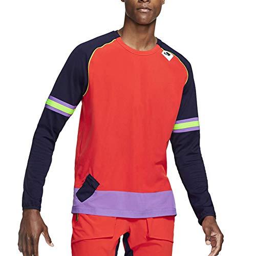 Nike Wild Run - Camiseta de Running para Hombre (Manga Larga) - Naranja - X-Large