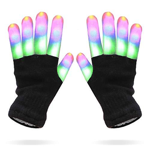 Luwint Kids LED Gloves Finger Light Gloves - Amazing Colorful Flashing Novelty Toys for Children Boys Girls