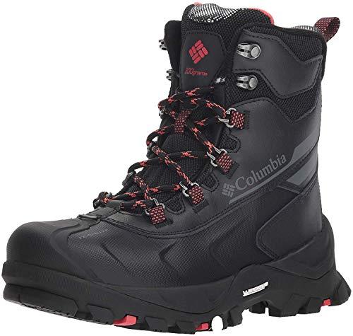 Columbia Women's Bugaboot Plus IV Omni-Heat Snow Boot, Black, Sunset red, 5
