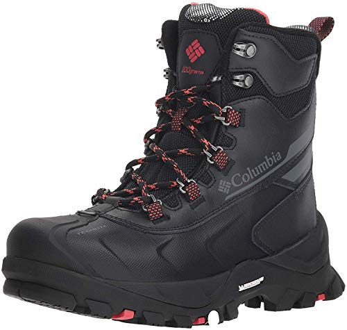 Columbia Women's Bugaboot Plus IV Omni-Heat Snow Boot, Black, Sunset red, 9