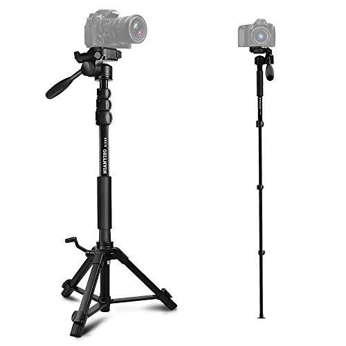 三脚 カメラ クイックシュー式 3Way雲台 360度回転 水準器付き 4段階伸縮 全高1535mm アルミ製 軽量 コンパクト 収納バッグ付き BY668