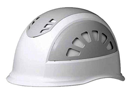 ミドリ安全 ヘルメット 小サイズ 作業用 ABS製 通気孔付 SC17BV RAS KP付 ホワイト/グレー