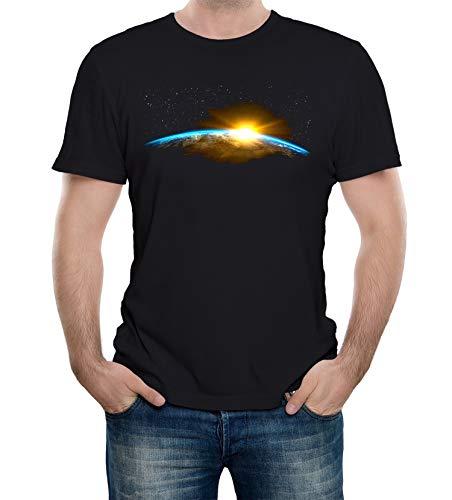 Reality Glitch Herren A New Dawn T-Shirt (Schwarz, Mittel)