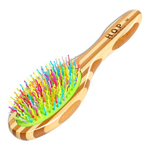 Dog Brush for Grooming, Cat Brush for Long & Short Hairs, Fur Remover & Soft Massage for Dogs & Cats Grooming Comb - Detangling & Deshedding & Dirt Cleaning, Natural Bamboo