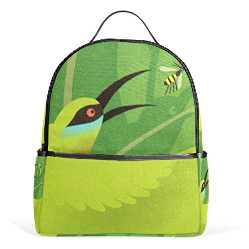 Rugzak Daypack Bee Bird lichtgewicht canvas boek tas voor jongens meisjes tieners vrouwen