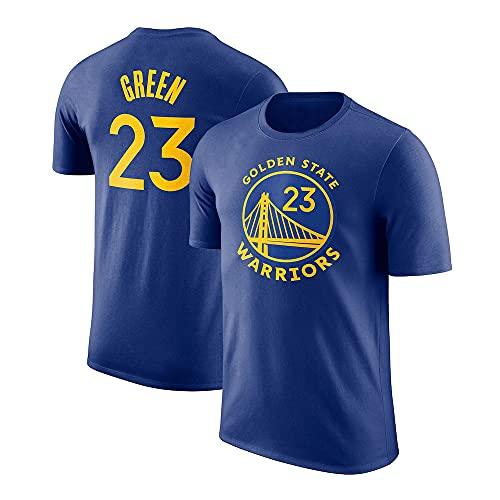 YZQ Camisetas para Hombres, Golden State Warriors # 23 Draymond Green Camisetas De Baloncesto De La NBA Casual Y Camisetas De Manga Corta Y Camisetas Cómodas,Azul,XXXL(190~195)