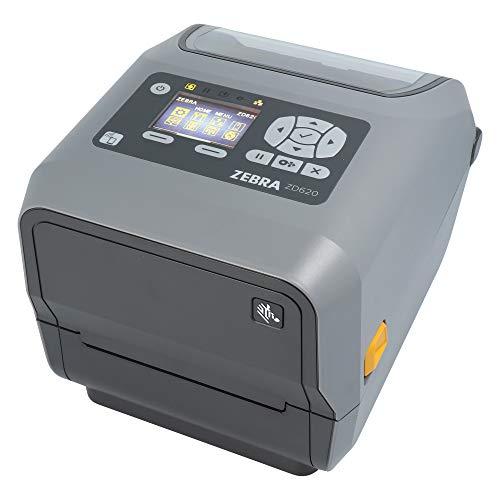 Zebra ZD620t Drucker mit Cutter - 300 dpi - Thermotransfer - 108 mm max. Druckbreite, BTLE, LAN, seriell (RS-232), USB Schnittstellen (ZD62143-T2EF00EZ)