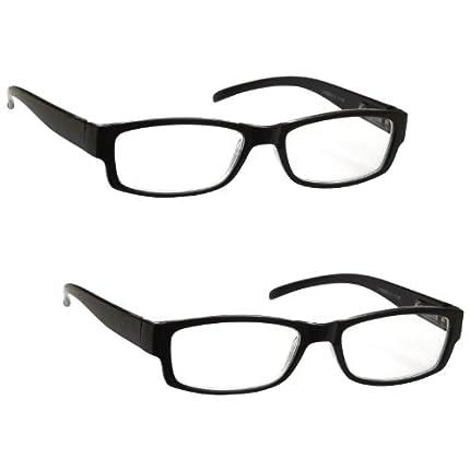 The Reading Glasses Company Gafas De Lectura Negro Ligero Cómodo Lectores Valor Pack 2 Estilo Diseñador Hombres Mujeres Uvr2Pk032 +2,50 2 Unidades 70 g