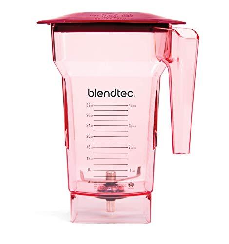 Blendtec Wildside+ Jar (64 oz) - Five Sided - 2 Quart - Commercial-Grade Blender Jar - Vented Latching Lid - BPA-free - Red