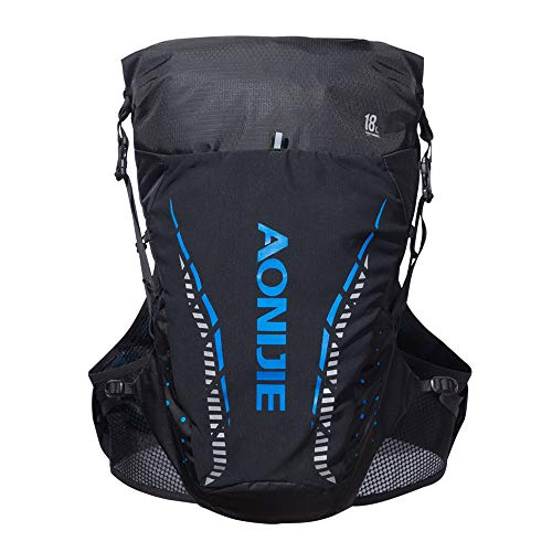 ZJY 18L Marathon Hydration Pack Sac à Dos 3 Water Level Warehouse Air Guiding System Comfortable Carrying Carrying Strap with Cane - for Run Hiking Cycling