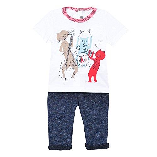 Catimini Pantalon + tee-shirt - Blanc - 1 an (Taille fabricant: 12 mois)