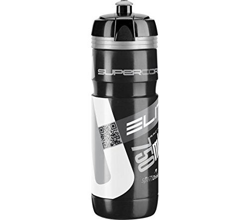 Elite FA003514220 - Borraccia Supercorsa, 750 ml, nero/argento