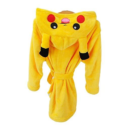 Jungen Mädchen Nachtwäsche Pyjamas Kinder Bademäntel Flanell Kapuzen Handtuch...