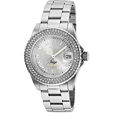 Cruiseline Stainless Steel Crystal Accented Swiss Quartz Watch
