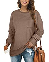 Oversized Sweatshirts for women Fall Clothes Cozy Warm Sweaters Long Sleeve Tops XXL