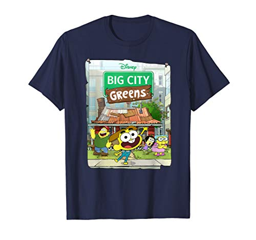 Disney Big City Greens Poster Cricket and Family T-Shirt