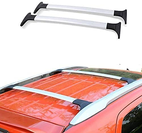 QHYTL 2 Piezas Baca portaequipajes para Coche, Riel portaequipajes para Ford Ecosport 2013-2020 Barras de Techo con rieles Integrados Accesorios de Modelado