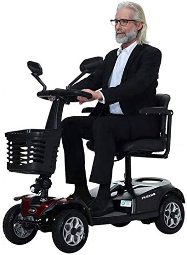 Vacoomcom New Upgrade Scooter for The Elderly, Four-Wheel Foldable Electric Scooter for The Elderly, Dual-Function 20AH, Long-Lasting Life of 30Km, The Best Gift for The Elderly,Travel Mobility Aids