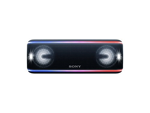 Sony SRS-XB41 Altoparlante Wireless Portatile, Extra Bass, Bluetooth, NFC, Resistente all'Acqua IP67, Batteria 24 ore, Funzione Live, Nero