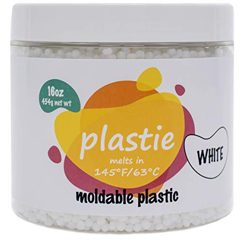 Plastie moldable plastic 16oz Durable hand moldable polymorph plastic for DYI crafts repairs etc