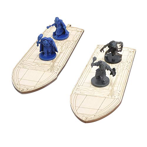 Wooden Rowboat for Tabletop Game