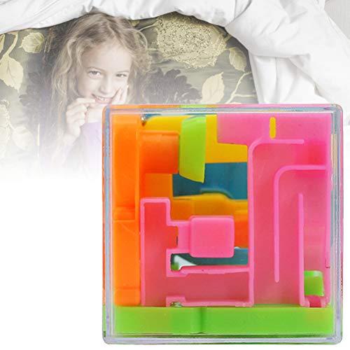 Huemny Cubo 3D rompecabezas laberinto juguete mano caja de juego de bolas rodantes, laberinto cubo mágico bola laberinto regalo juguetes de descompresión para niños adultos