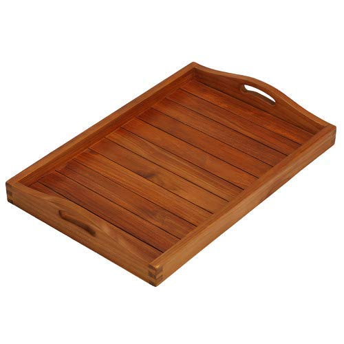 Bare Decor Vivi Spa/Serving Tray in Solid Teak Wood