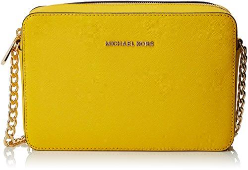 Michael Kors - Jet Set Travel, Bolsos maletín Mujer, Yellow (Sunflower), 1.9x10.2x22.9 cm (W x H L)