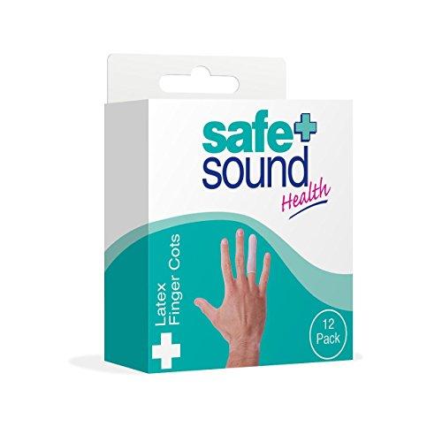 SAFE & Sound Fingerüberzug, Latex, 12verschiedene Größen