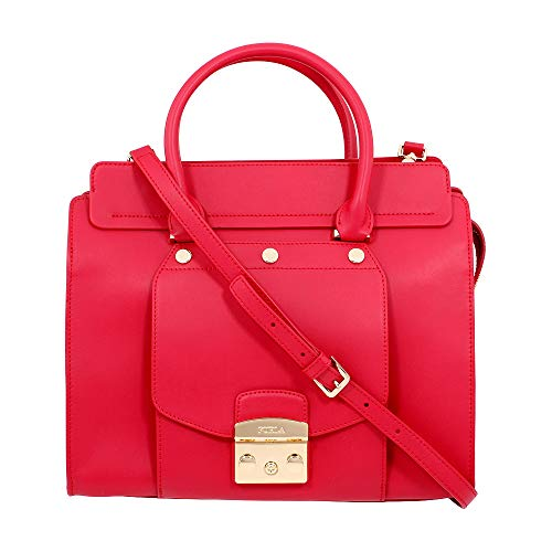 Furla Metropolis Magia Shopping Bag Satchel Leather Ruby