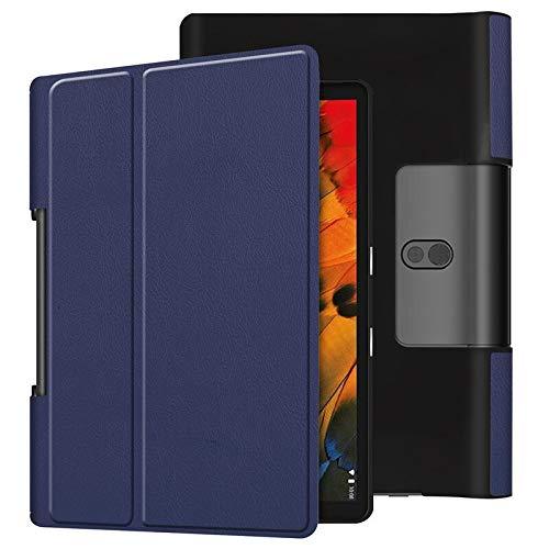 RZL PAD & TAB cases For Lenovo YOGA Smart Tab 10.1, Tablet Fold Stand Slot Bracket Flip Leather Tablet Case For Lenovo YOGA Smart Tab 10.1 Tab 5 YT-X705 YT-X705F Tab5 (Color : KST2 DeepBlue)