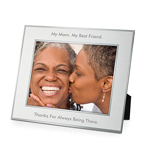 Things Remembered Personalized Silver Flat Iron 8 x 10 Landscape Frame with Engraving Included